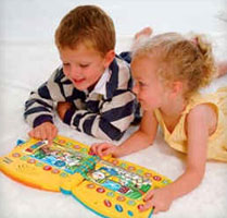 kids with vtech write learn letter book